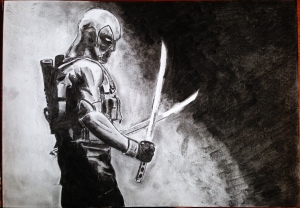 Deadpool_CharcoalSketch
