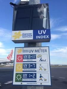 Perth Airport UV Meter
